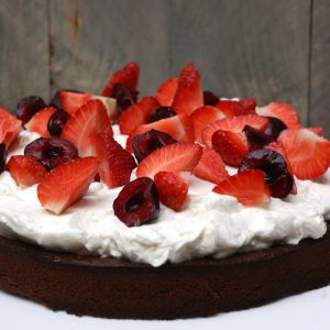 Brownie taart met rode vruchten EEFSFOOD