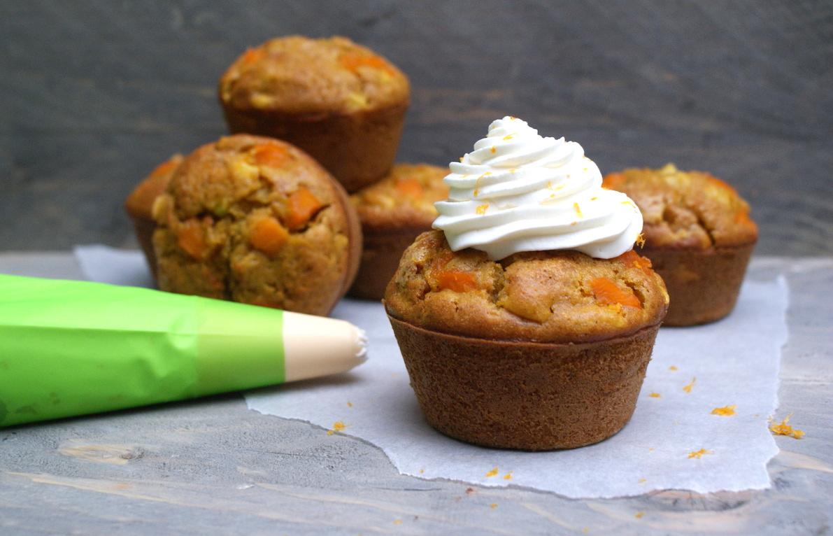 Pumpkin spice appelmuffins met sinaasappelroom EEFSFOOD