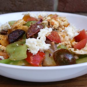 Tomatensalade met chorizo en mozzarella EEFSFOOD