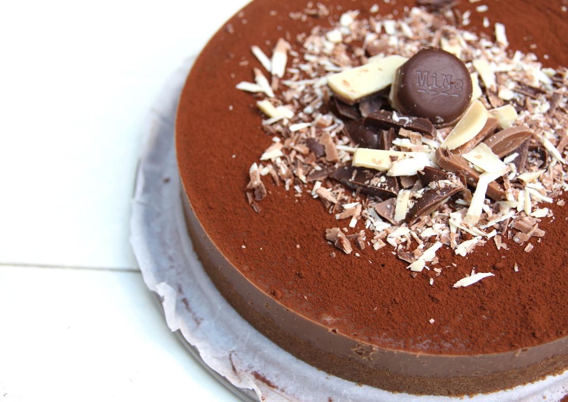 Caramel macchiato chocolade fudge taart EEFSFOOD