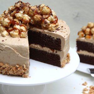 Chocolade pindakaas taart EEFSFOOD