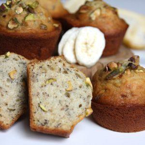 Banaan-pistache cakejes EEFSFOOD
