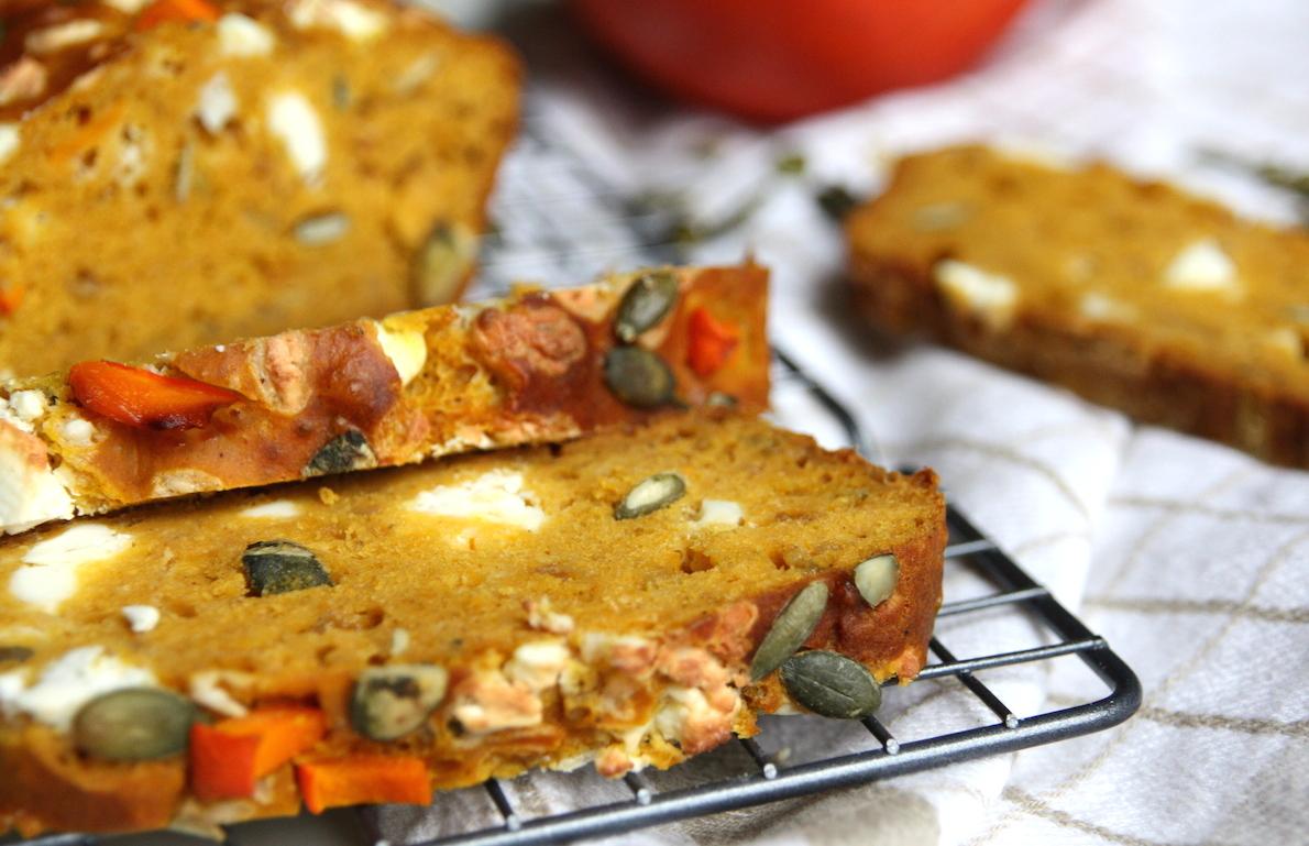 Hartige pompoen cake met feta EEFSFOOD