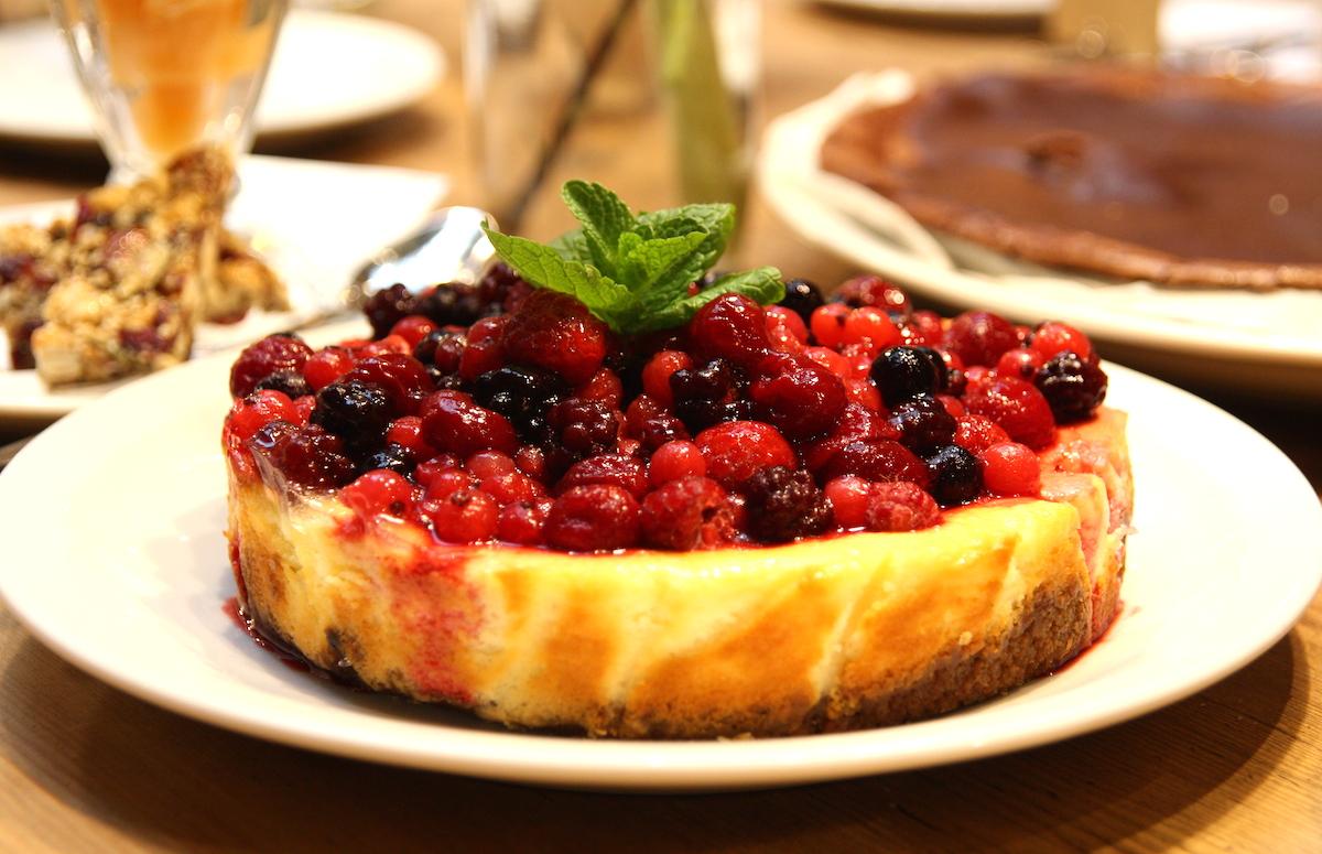 Rode bessen cheesecake