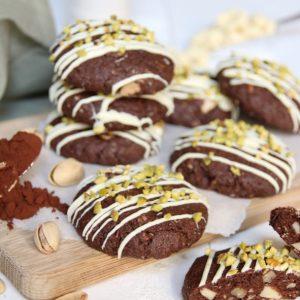 Chocoladekoeken met amandelen, pecan en pistachenoten
