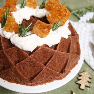 Mokka cake met mascarpone en karamelschotsen