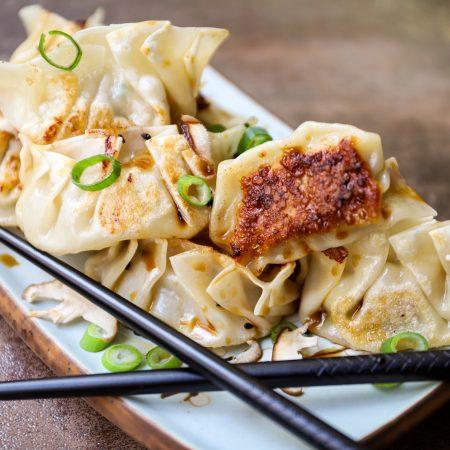 Japanse gyoza (met kip en garnaal)