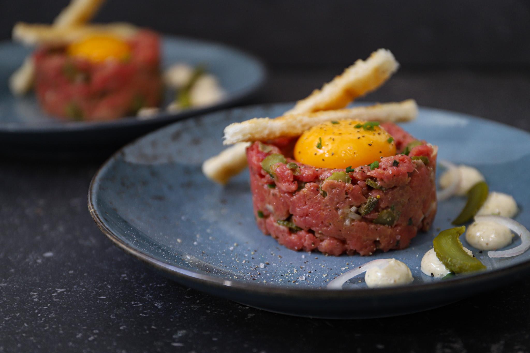 Steak tartaar met truffelmayonaise