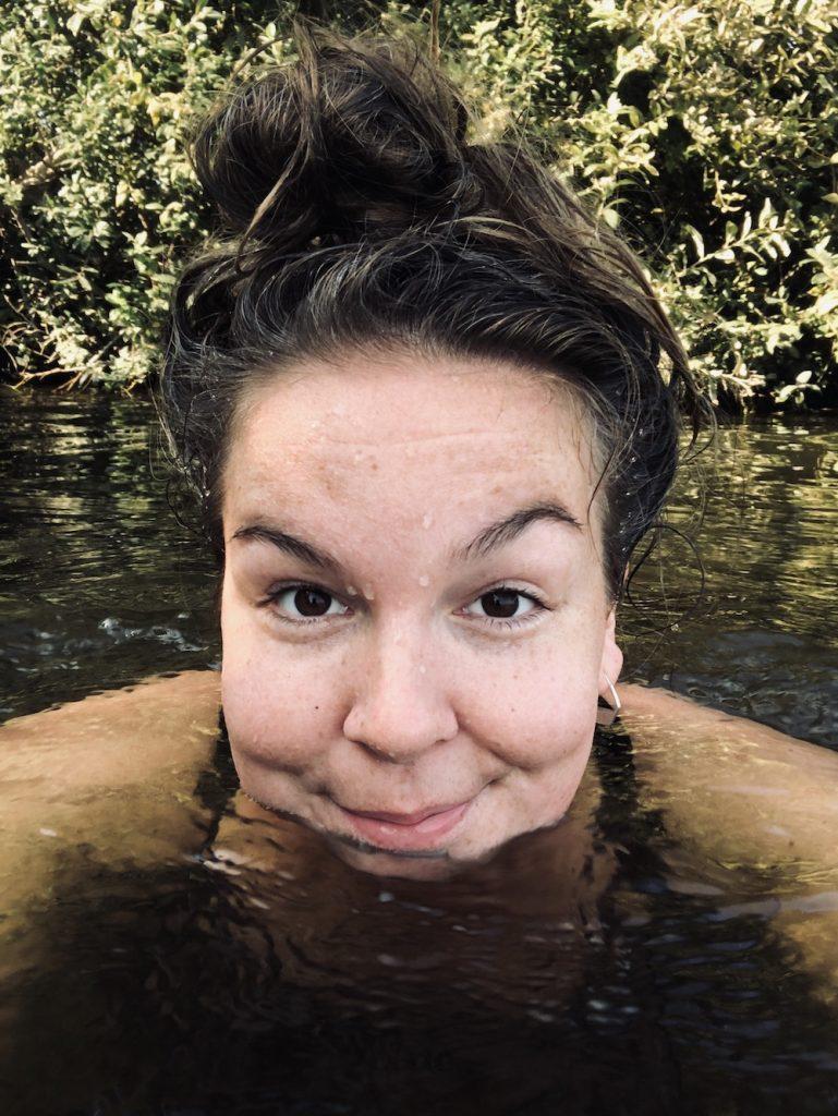 Zwemmen eiland