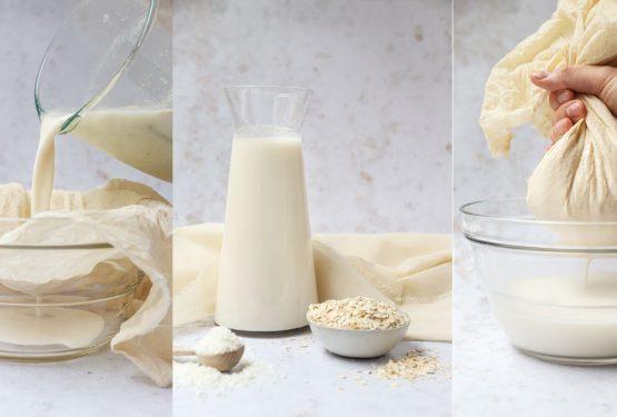 Zelf haver-kokosmelk maken