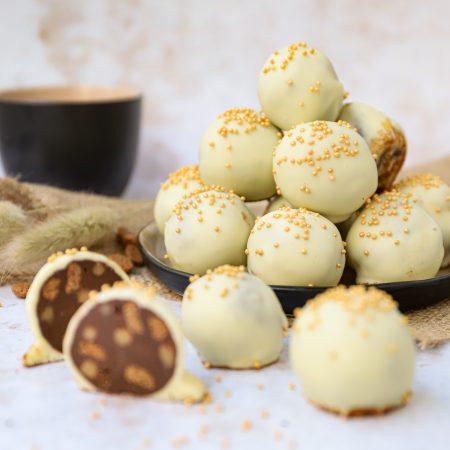 Speculaas karamel fudge truffels