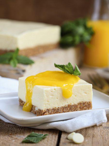 Passievruchtenmousse taart met mango