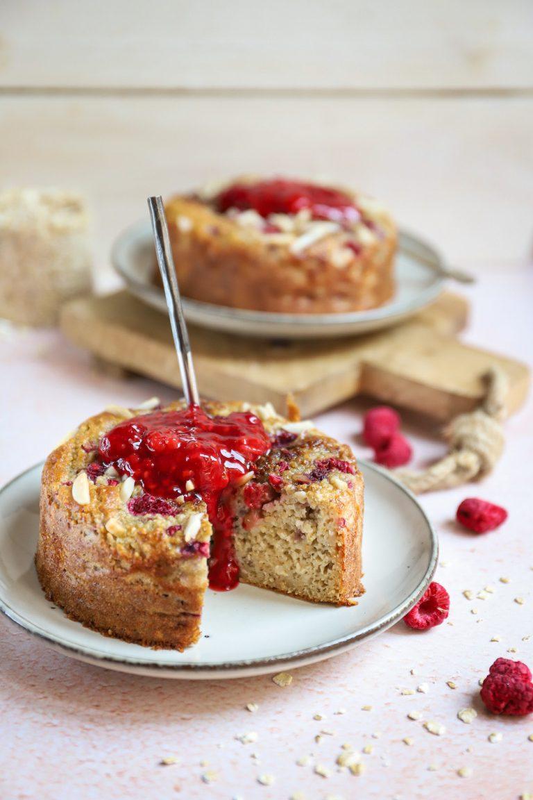 Ontbijttaartjes met frambozen en amandel