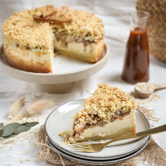Appel kruimel boterkoek cheesecake